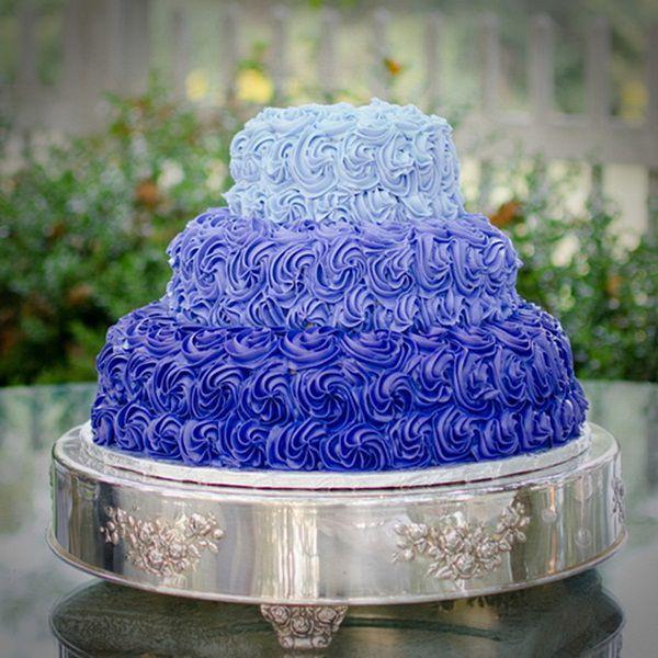 Blue And Purple Wedding Cakes  9 Blue Themed Wedding Cakes Ideas