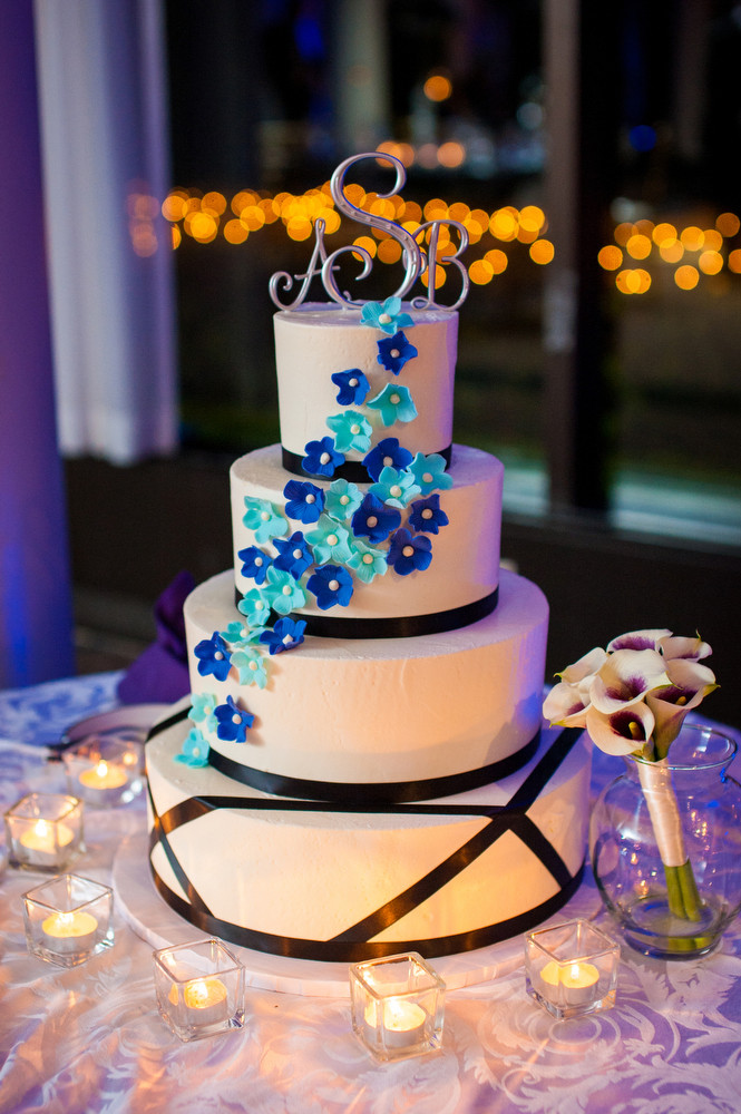 Blue And Purple Wedding Cakes  by Todd graphy