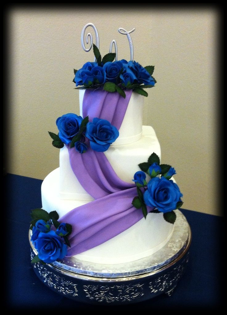 Blue And Purple Wedding Cakes  Your Perfect Day s Wedding Chat