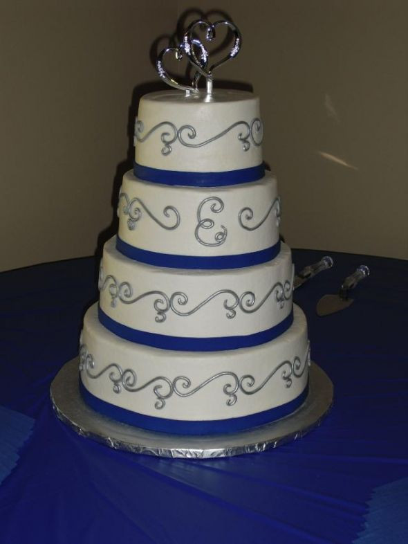 Blue And Silver Wedding Cakes  Clueless about a theme venue pics