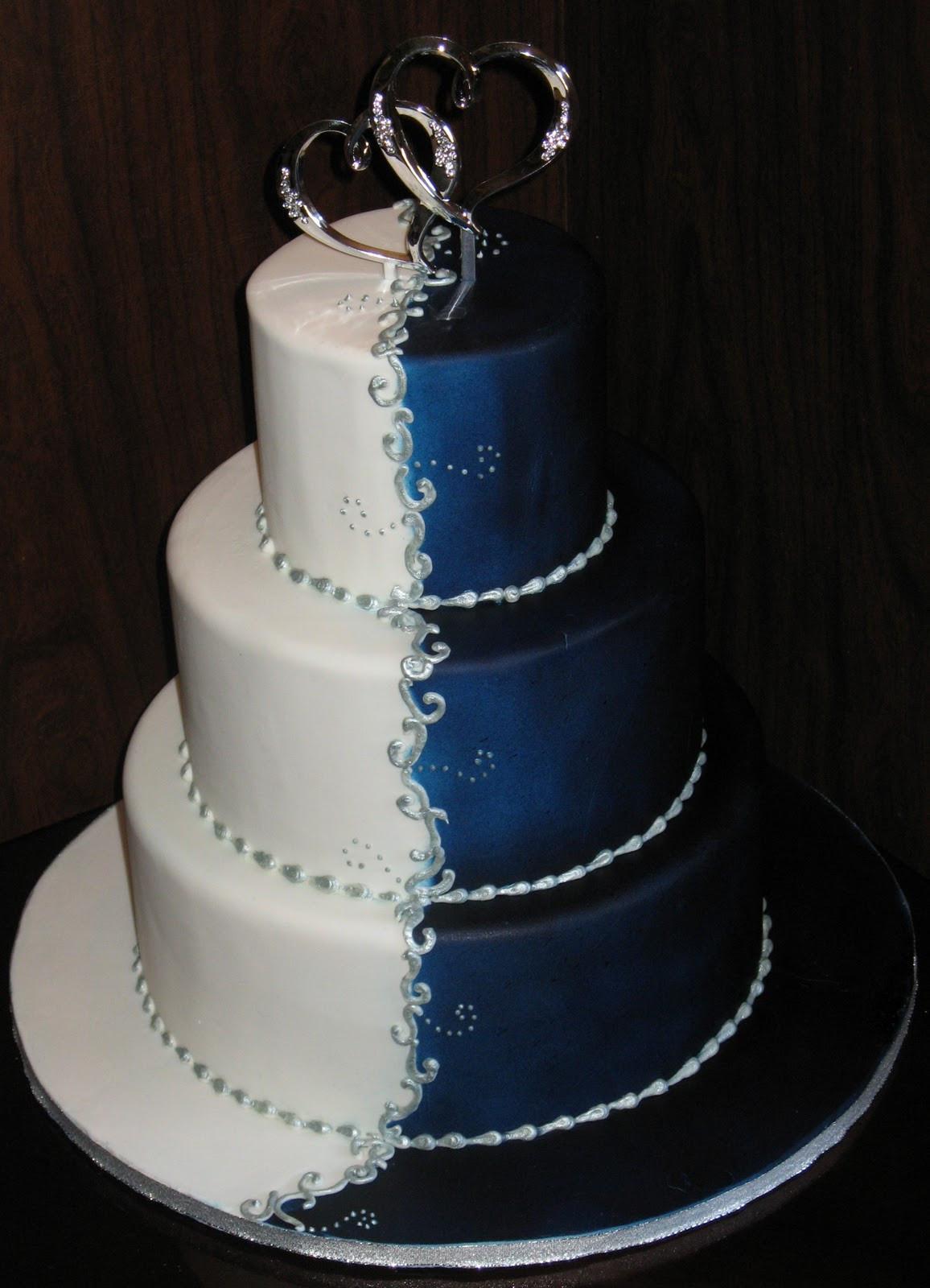 Blue And Silver Wedding Cakes  Wedding Cake Inspiration Ideas