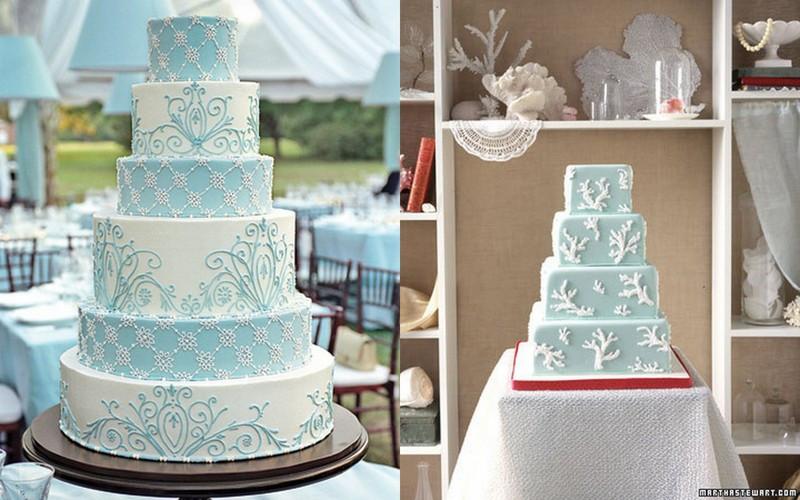 Blue And White Wedding Cakes  Inspiration Blue and white wedding cakes