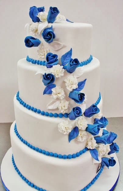 Blue And White Wedding Cakes  Blue And White Wedding Cake Designs Tyler Living