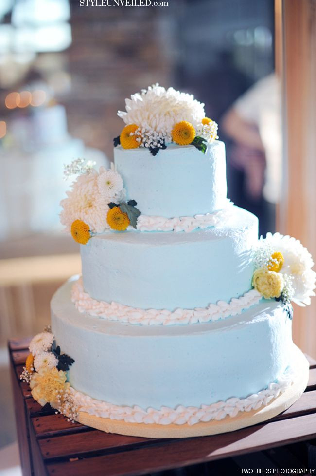 Blue And Yellow Wedding Cakes  17 Best images about Light Blue Yellow Wedding Ideas