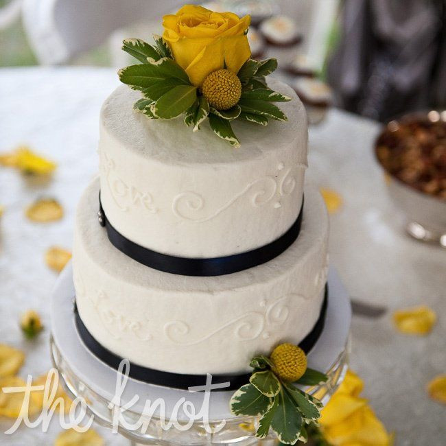 Blue And Yellow Wedding Cakes  Blue and Yellow Vintage Inspired Wedding Cake