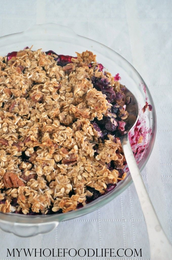 Blueberry Dessert Healthy  Healthy Blueberry Crisp Recipe