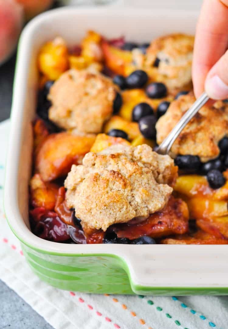 Blueberry Dessert Healthy  Healthy Blueberry Peach Cobbler Our Week in Meals 32