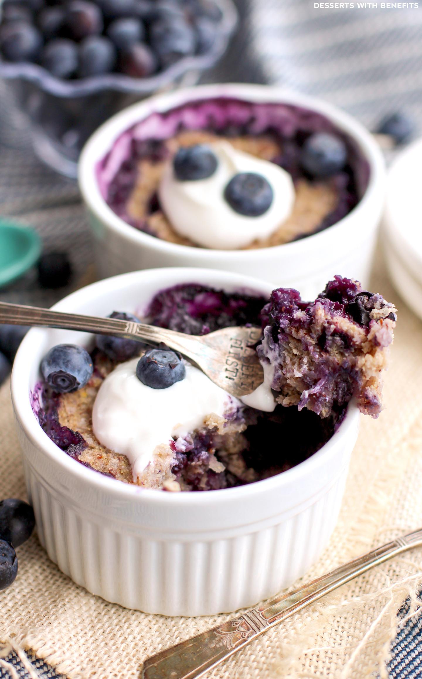 Blueberry Dessert Healthy  Healthy 5 minute Blueberry Quinoa Flake Muffins Gluten