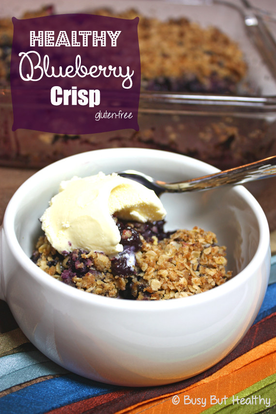 Blueberry Dessert Healthy  Healthy Blueberry Crisp Busy But Healthy