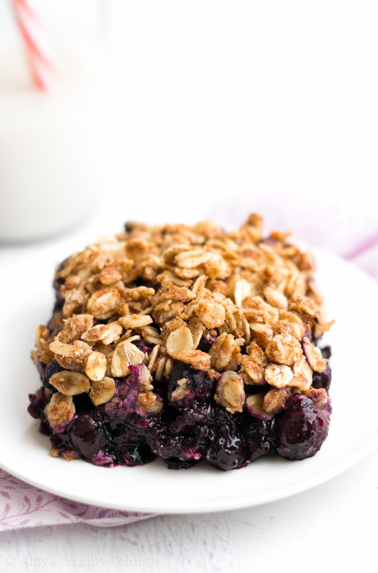 Blueberry Dessert Healthy  The Ultimate Healthy Blueberry Crumble Recipe Video