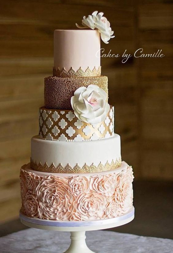 Blush Pink Wedding Cakes  75 Creative Wedding Cake Ideas And Inspiration EcstasyCoffee