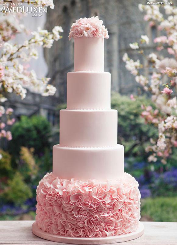 Blush Pink Wedding Cakes  luxury blush pink wedding cake Archives Weddings Romantique