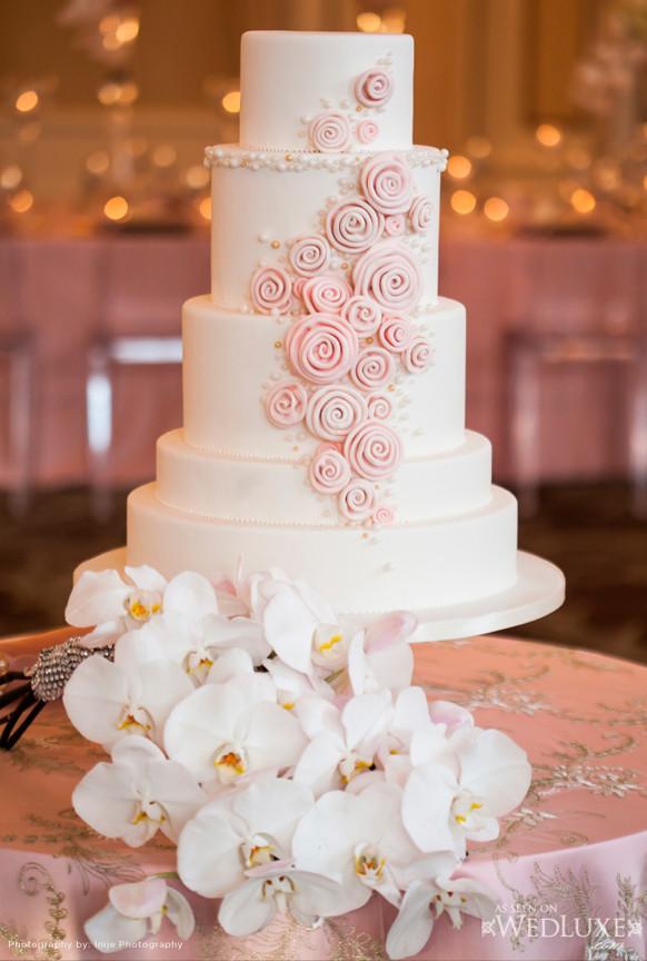 Blush Pink Wedding Cakes  2014 Blush Pink Weddings Archives Weddings Romantique