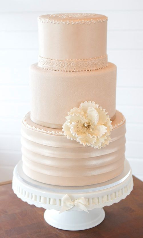 Blush Pink Wedding Cakes  2014 Spring Wedding Colors Girly Schtuff