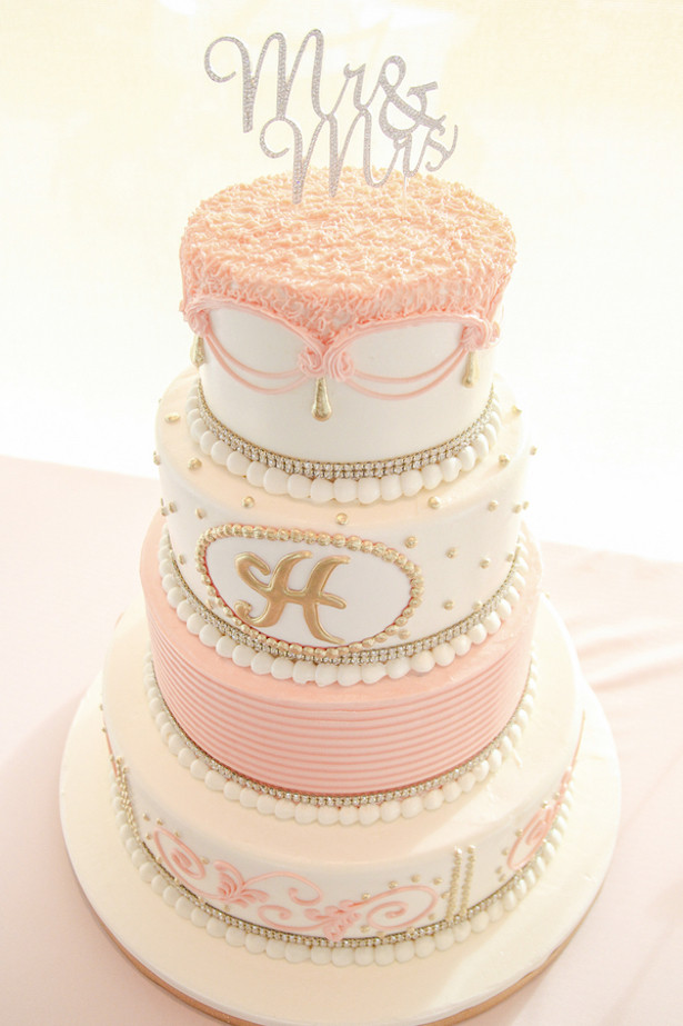 Blush Pink Wedding Cakes  Romantic Blush Peach Wedding Belle The Magazine