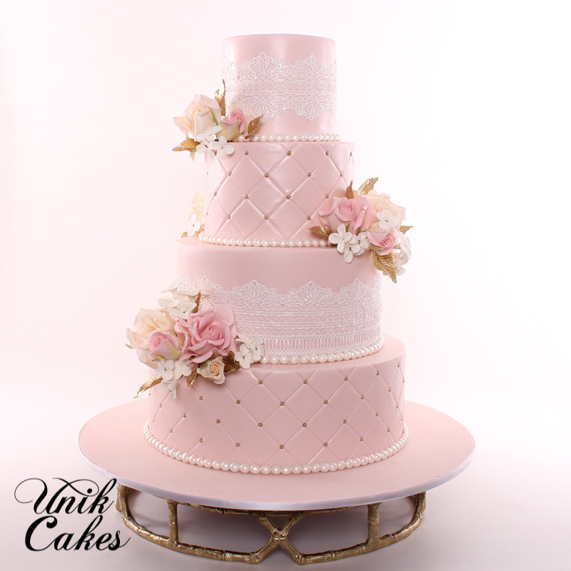 Blush Pink Wedding Cakes  Unik Cakes Wedding & Speciality Cakes