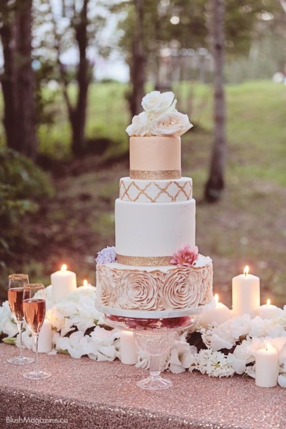 Blush Pink Wedding Cakes  Blush Wedding 23 Impossibly Romantic Ideas