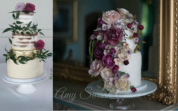 Bohemian Wedding Cakes  Bohemian Wedding Cakes in Rich Tones – Cake Geek Magazine