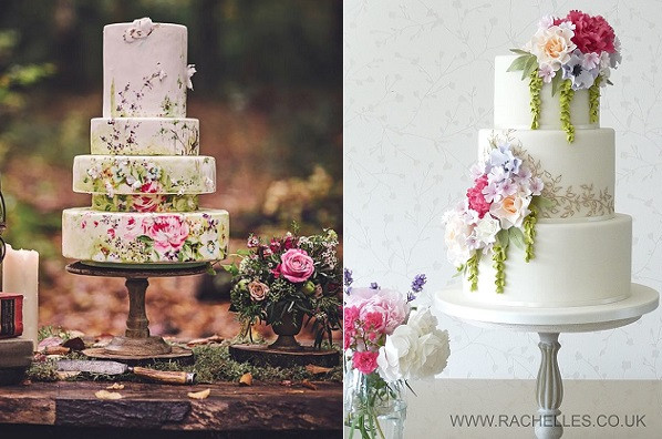 Bohemian Wedding Cakes  Bohemian Wedding Cakes in Soft Shades – Cake Geek Magazine