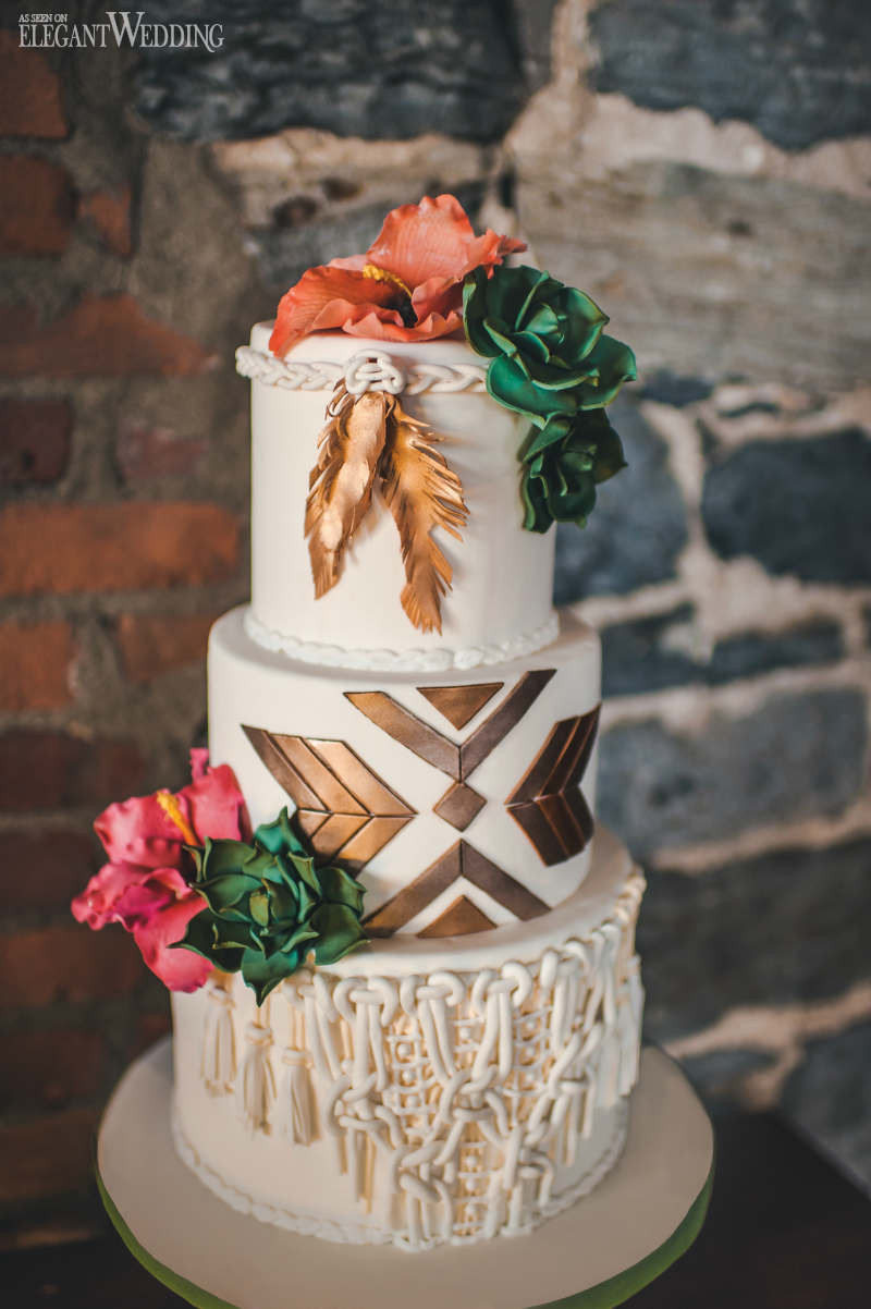 Bohemian Wedding Cakes  Desert Boho Wedding Theme