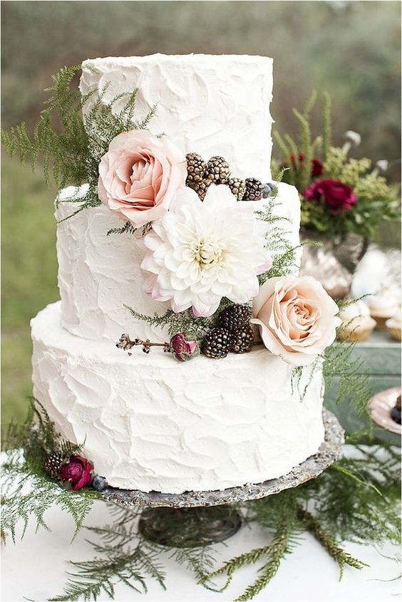 Bohemian Wedding Cakes  40 wedding cakes with roses you just can t resist
