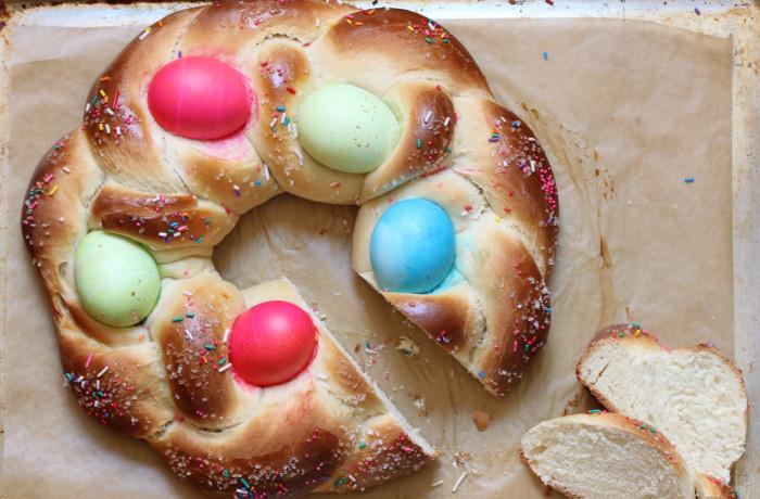 Braided Easter Bread  Braided Easter Egg Bread Recipe — Dishmaps