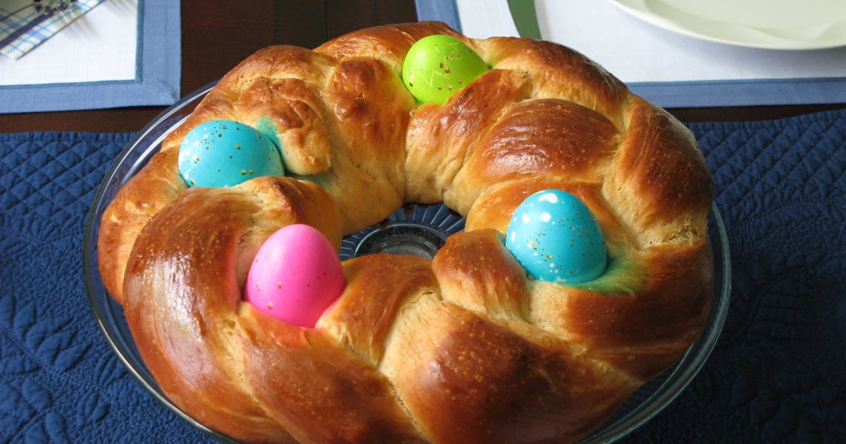Braided Easter Bread  Rose s Recipes Braided Easter Egg Bread