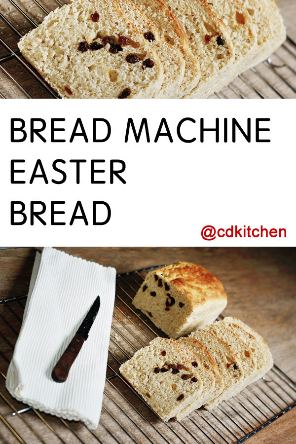 Bread Machine Easter Bread  Bread Machine Easter Bread Recipe from CDKitchen