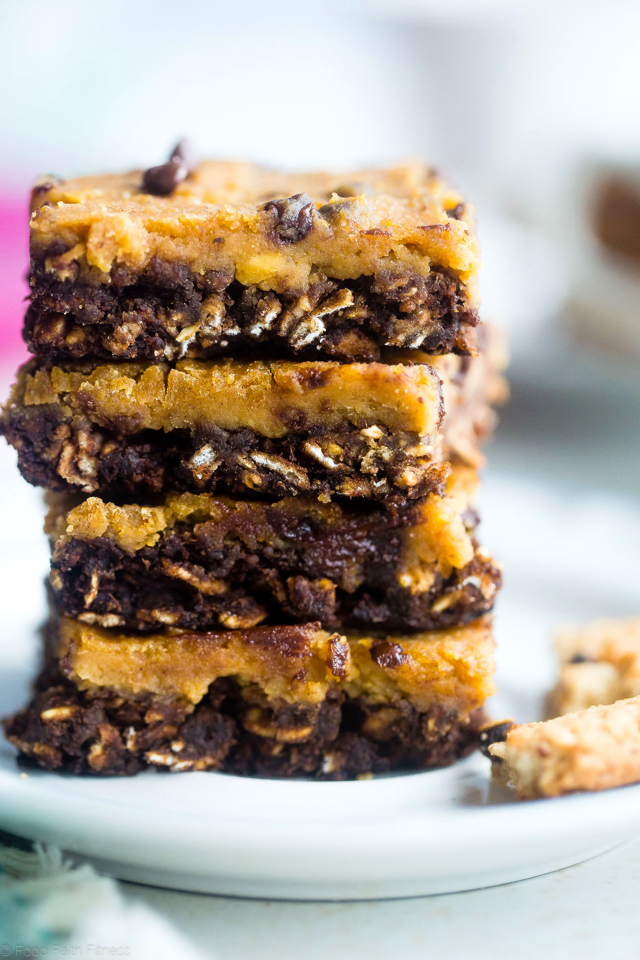 Breakfast Bars Healthy  Vegan Cookie Dough Oatmeal Breakfast Bars Gluten Free
