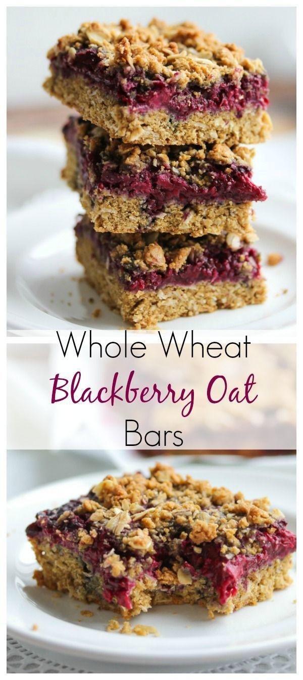 Breakfast Bars Healthy  Whole Wheat Blackberry Oat Bars Recipe