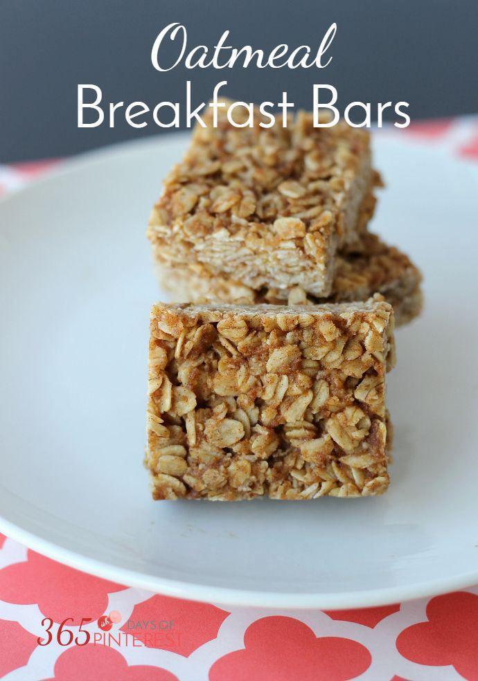 Breakfast Bars Healthy  Best 25 Oatmeal breakfast bars healthy ideas on Pinterest