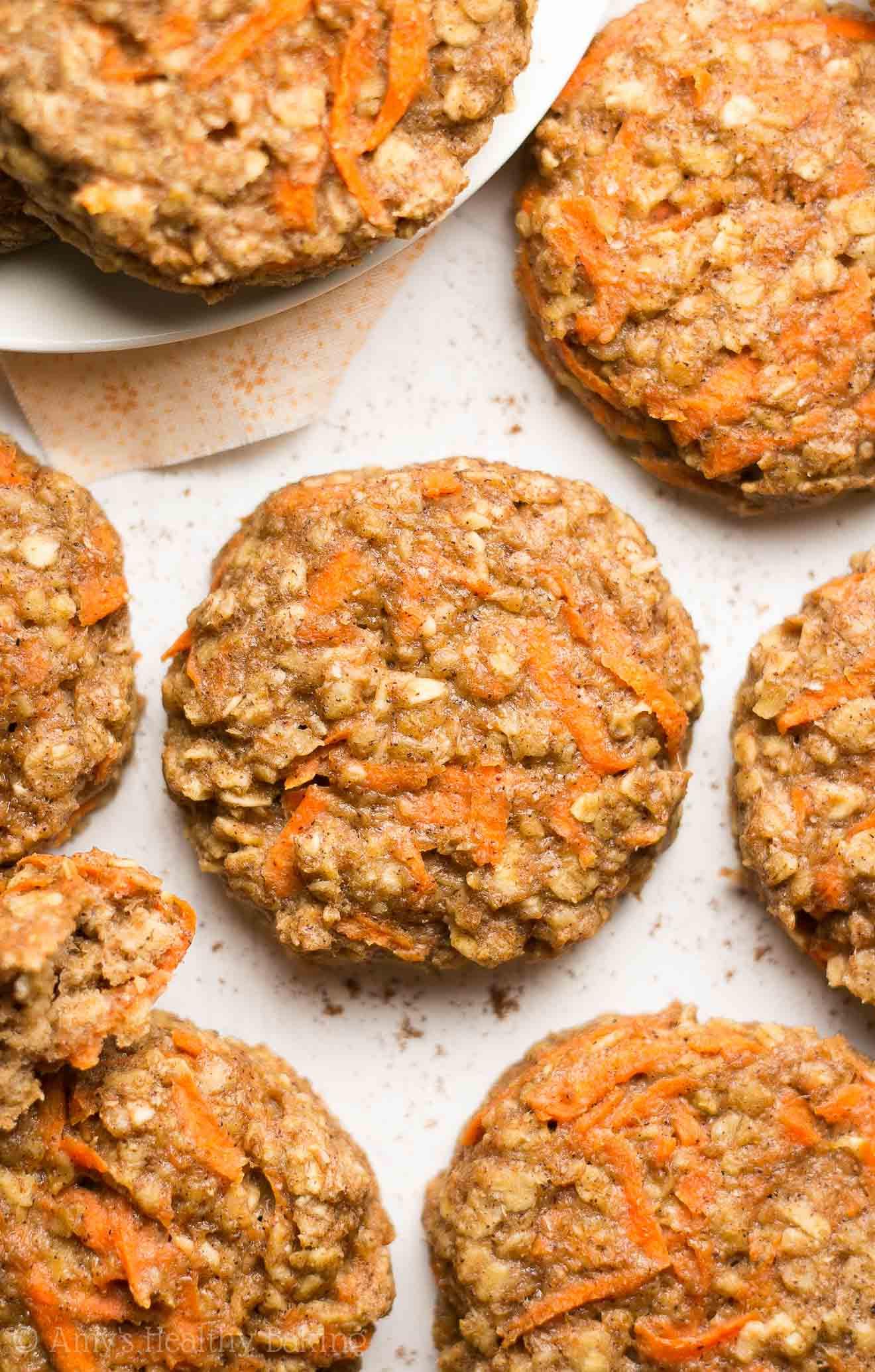 Breakfast Cookie Recipe Healthy  Healthy Carrot Cake Oatmeal Breakfast Cookies