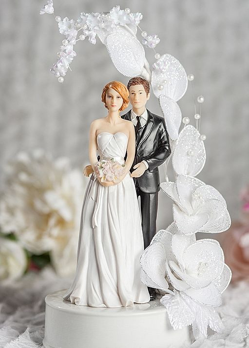 Bride And Groom Toppers For Wedding Cakes  Contemprary Bride and Groom Vintage Glitter Flower Arch