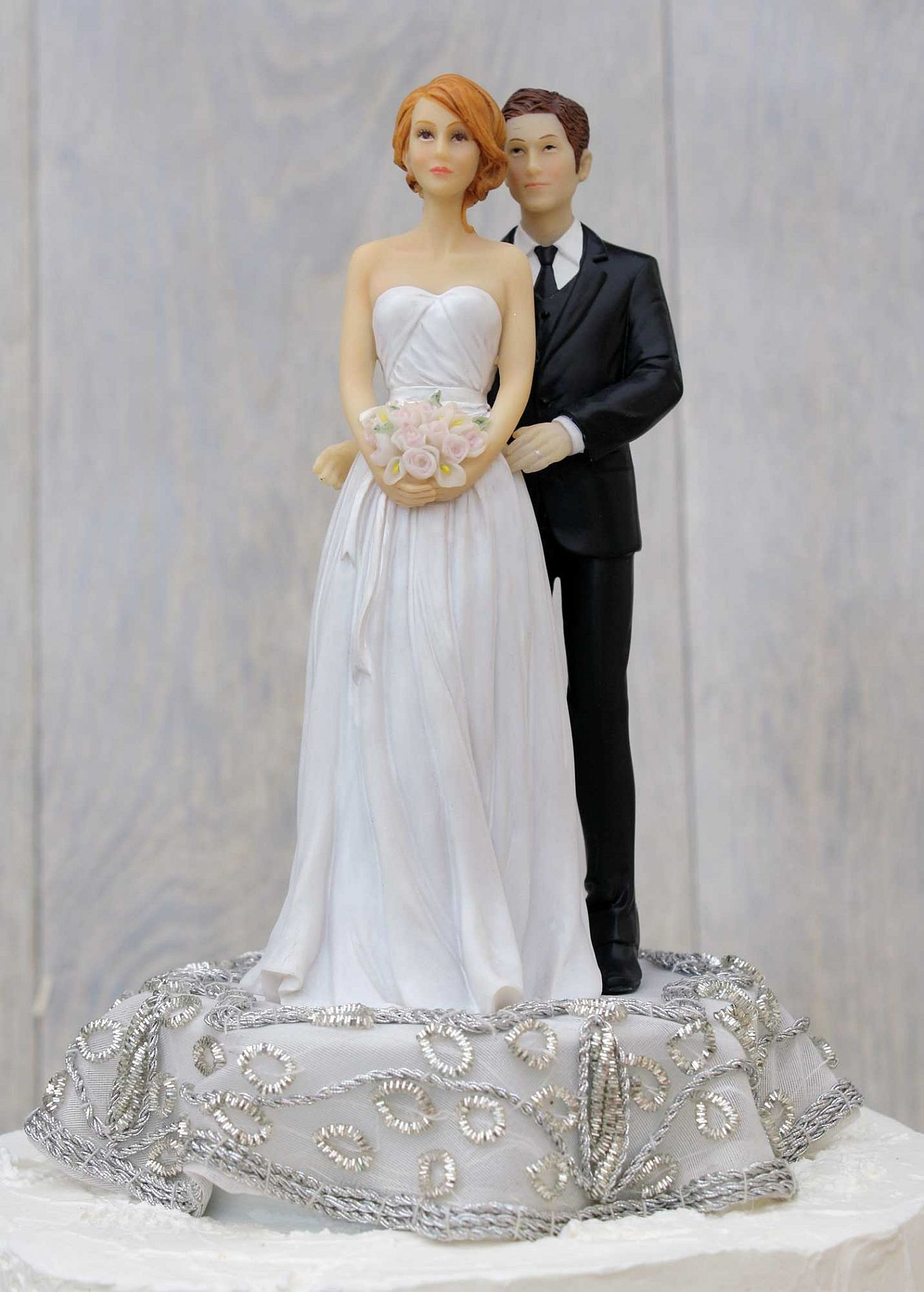 Bride And Groom Toppers For Wedding Cakes  Bride and groom wedding cake toppers idea in 2017