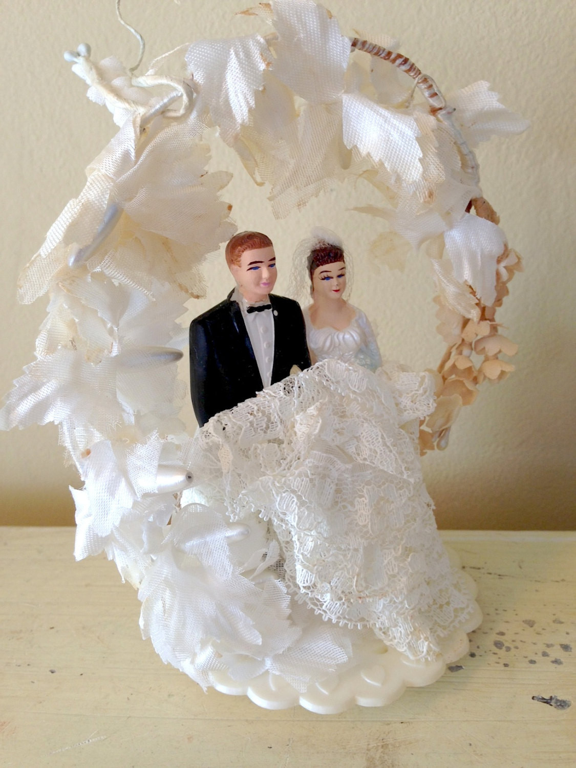 Bride And Groom Toppers For Wedding Cakes  Vintage Cake Topper Wedding Cake Topper Bride and Groom