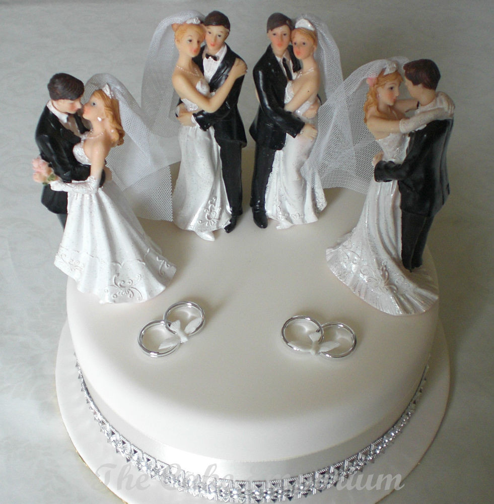 Bride And Groom Toppers For Wedding Cakes  WEDDING CAKE TOPPER RESIN BRIDE & GROOM STANDING
