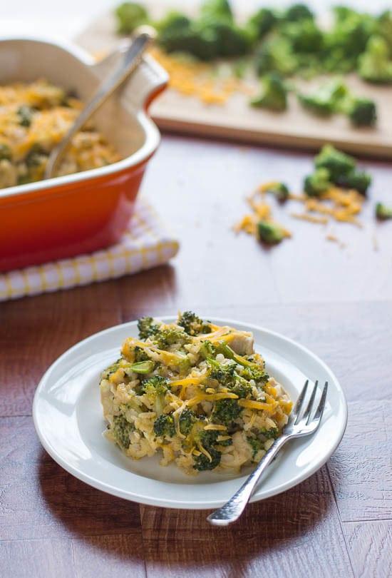 Broccoli Casserole Healthy  Cheesy Chicken Broccoli Rice Casserole