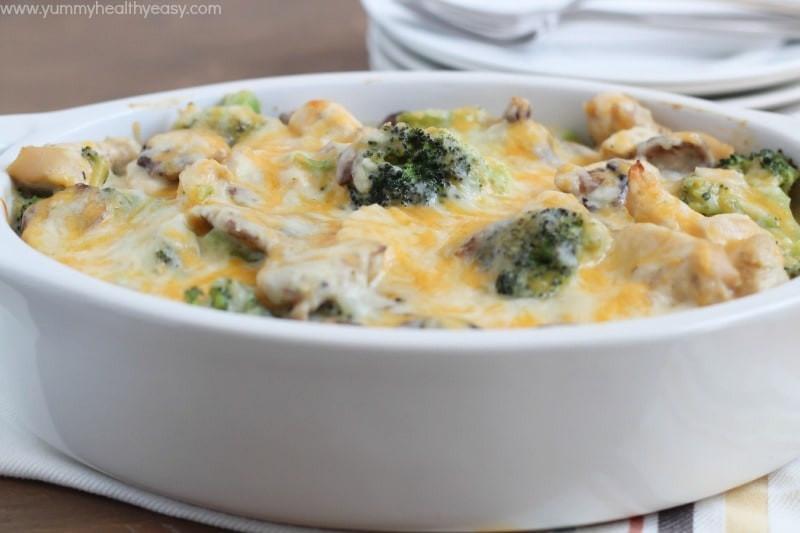 Broccoli Casserole Healthy  Skinny Chicken & Broccoli Casserole Yummy Healthy Easy