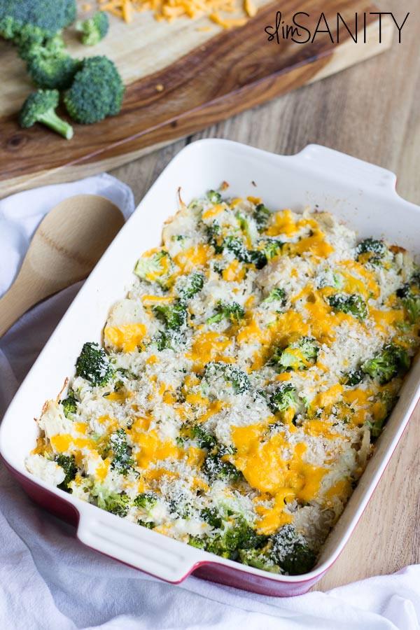 Broccoli Casserole Healthy  Healthy Broccoli Chicken Casserole made in 30 minutes