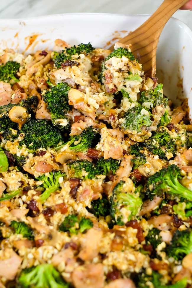 Broccoli Cauliflower Rice Casserole Healthy  Healthy Chicken and Broccoli Casserole Paleo Whole30