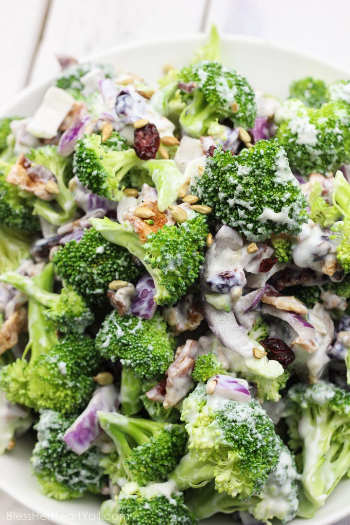 Broccoli Salad Healthy  Skinny Greek Yogurt Broccoli Salad Easy Fresh