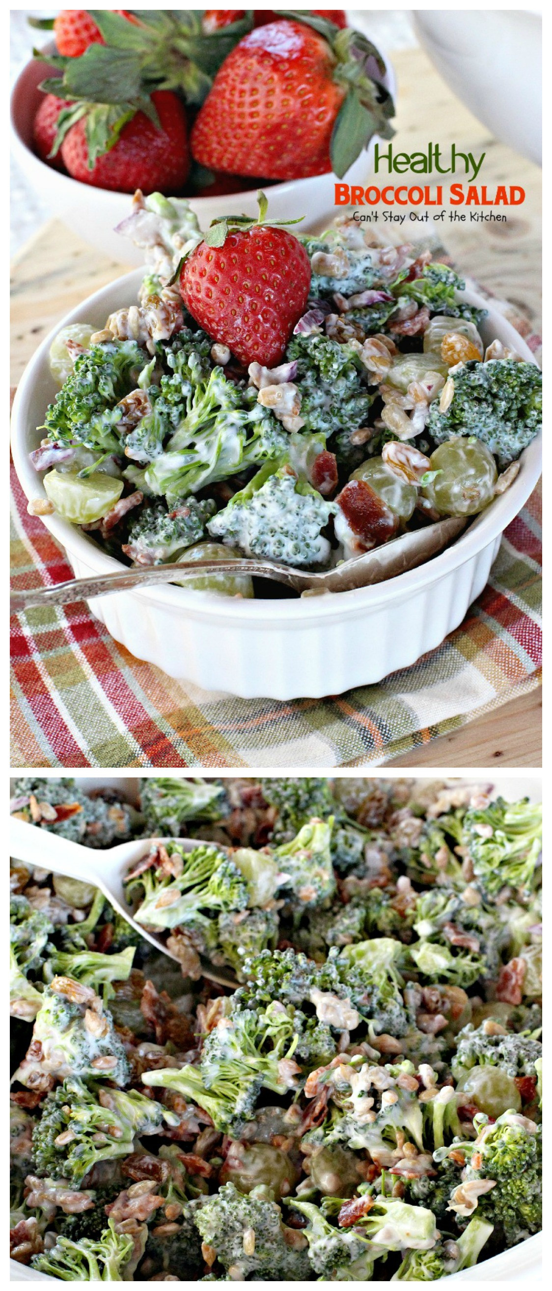 Broccoli Salad Healthy  Broccoli Apple Salad Can t Stay Out of the Kitchen