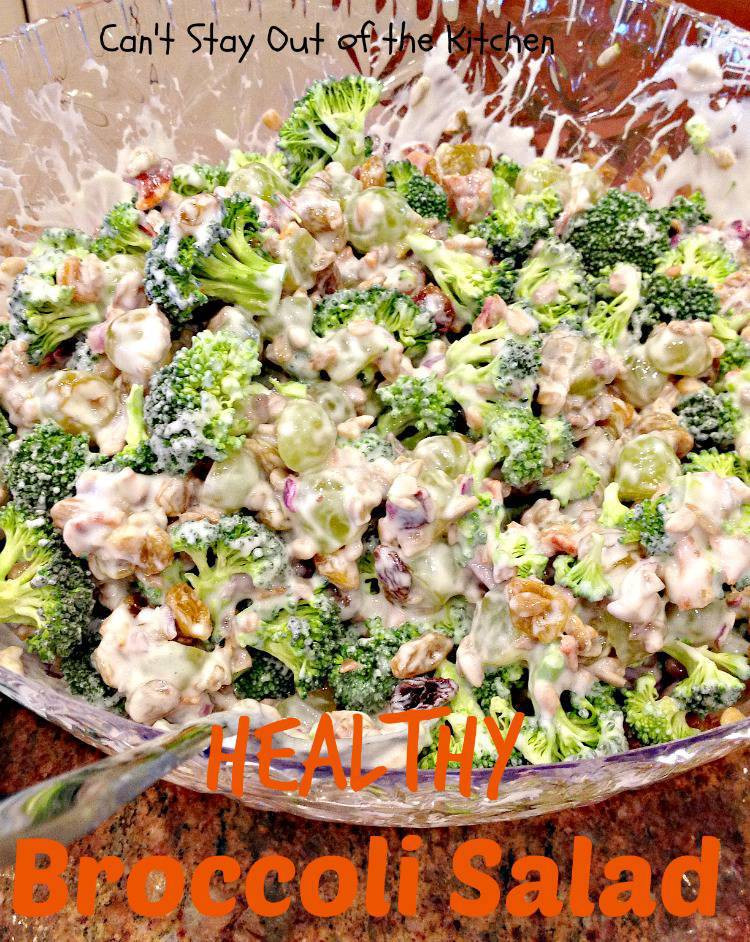 Broccoli Salad Healthy  Healthy Broccoli Salad Can t Stay Out of the Kitchen