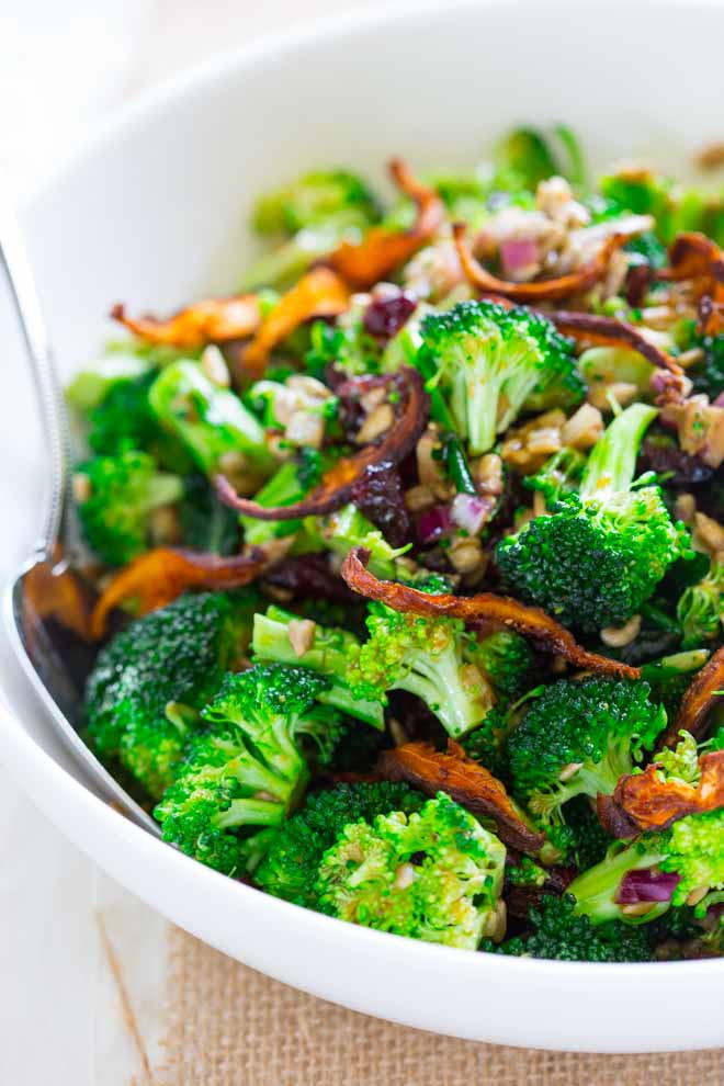 Broccoli Salad Healthy  broccoli salad with sweet miso dressing Healthy Seasonal
