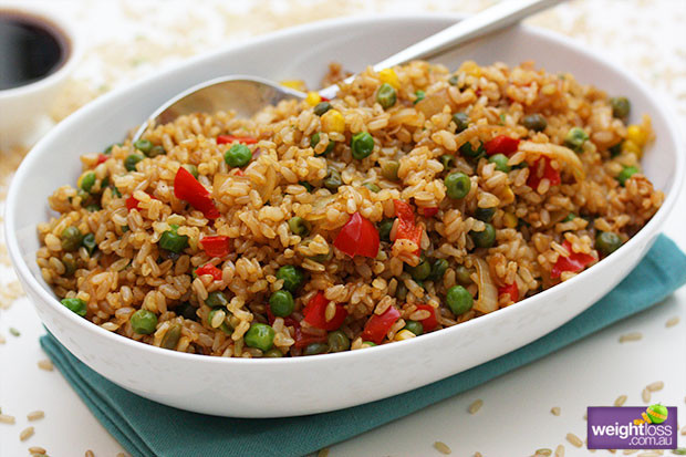 Brown Rice Recipe Healthy  Fried Brown Rice