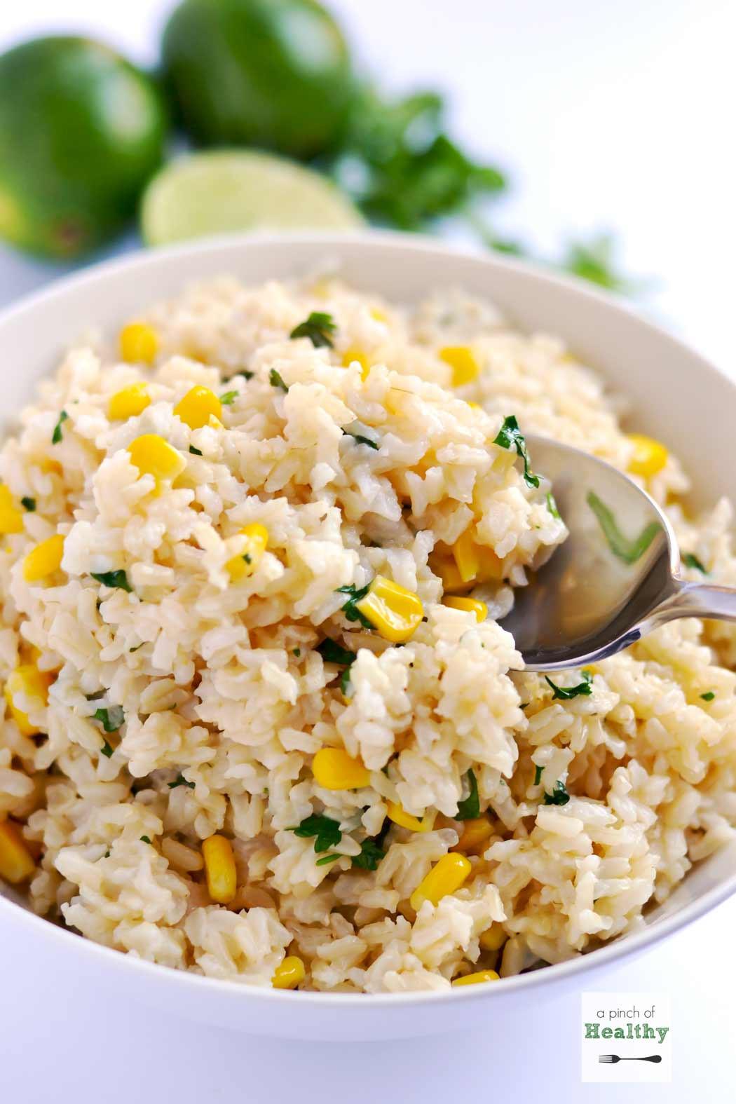 Brown Rice Recipe Healthy  cilantro brown rice