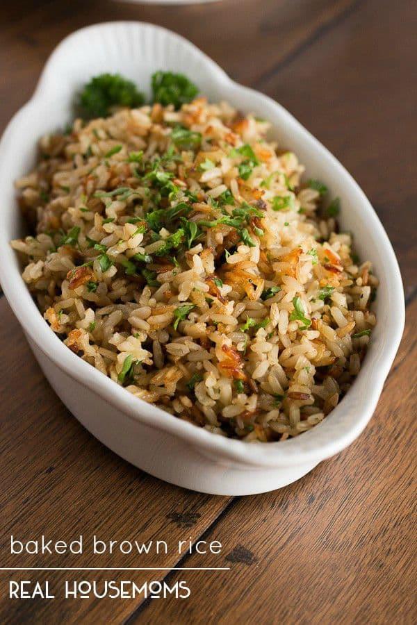 Brown Rice Recipe Healthy  Baked Brown Rice ⋆ Real Housemoms