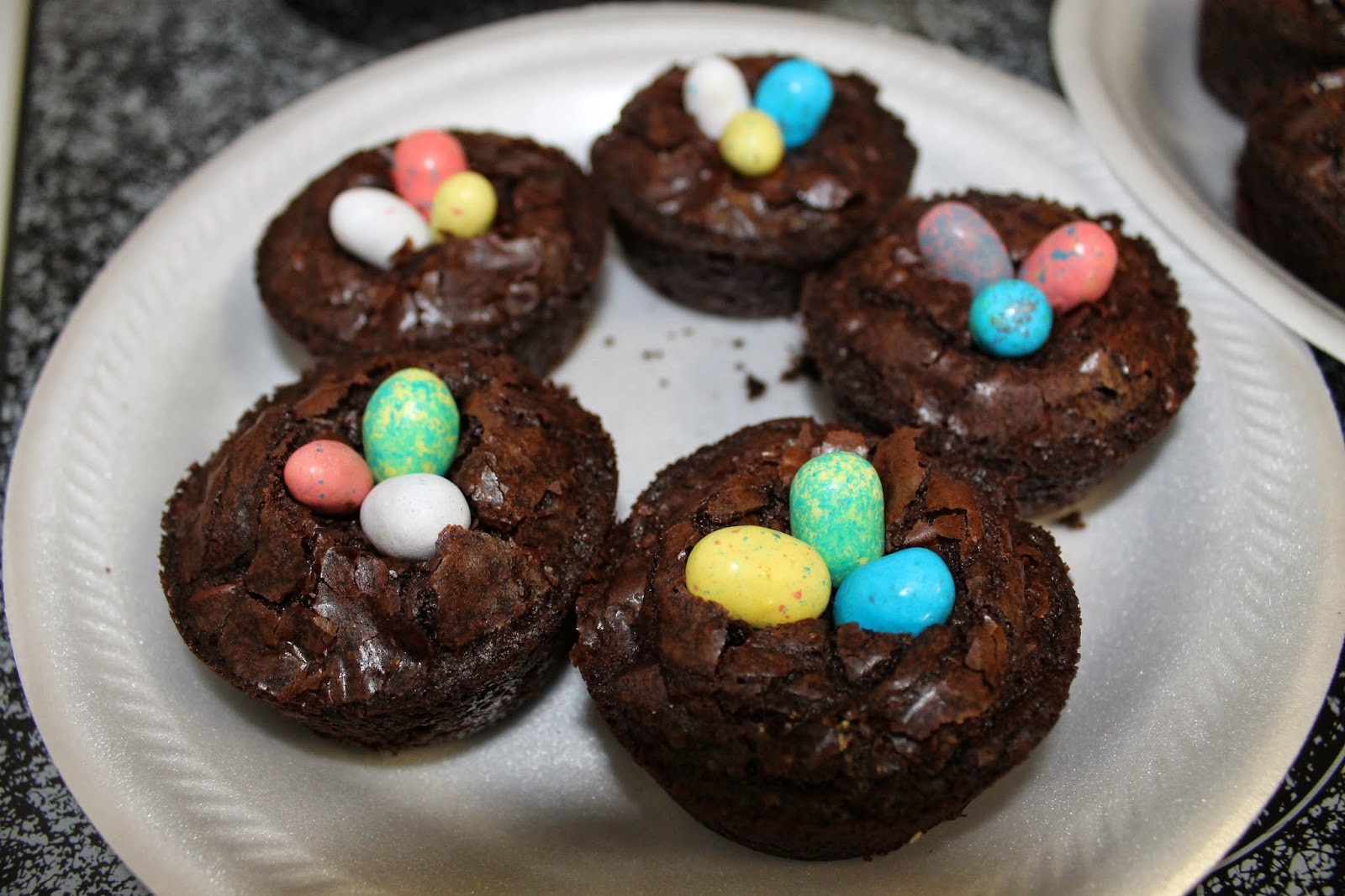 Brownie Easter Desserts  Let It Be Glory Brownie Bird Nests Super Duper Easy