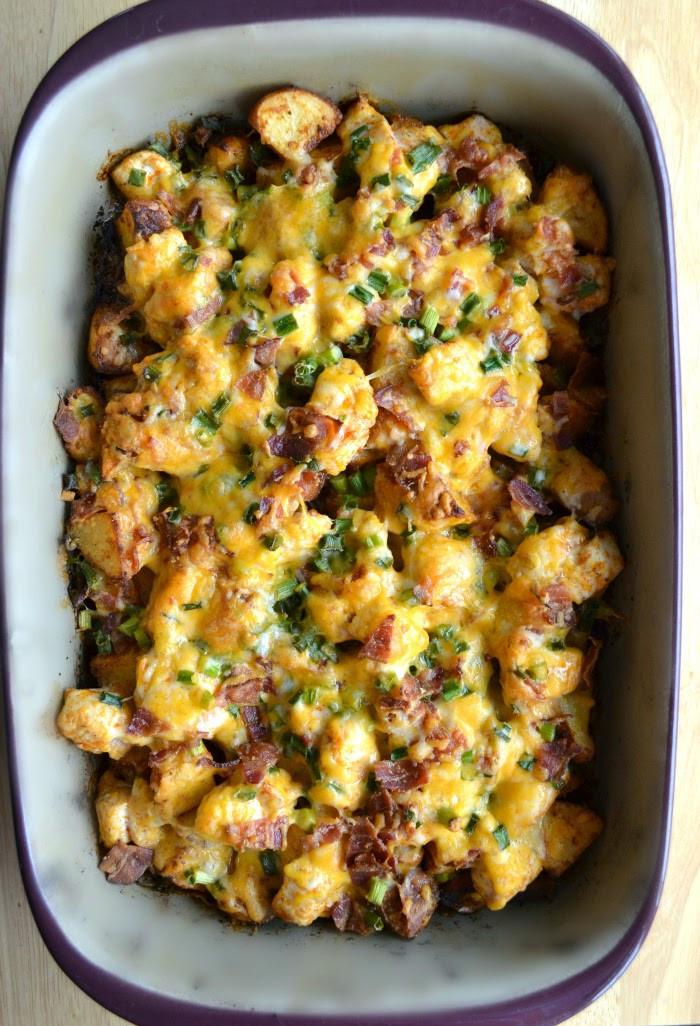 Buffalo Chicken Casserole Healthy  Loaded Baked Potato and Buffalo Chicken Casserole Recipe