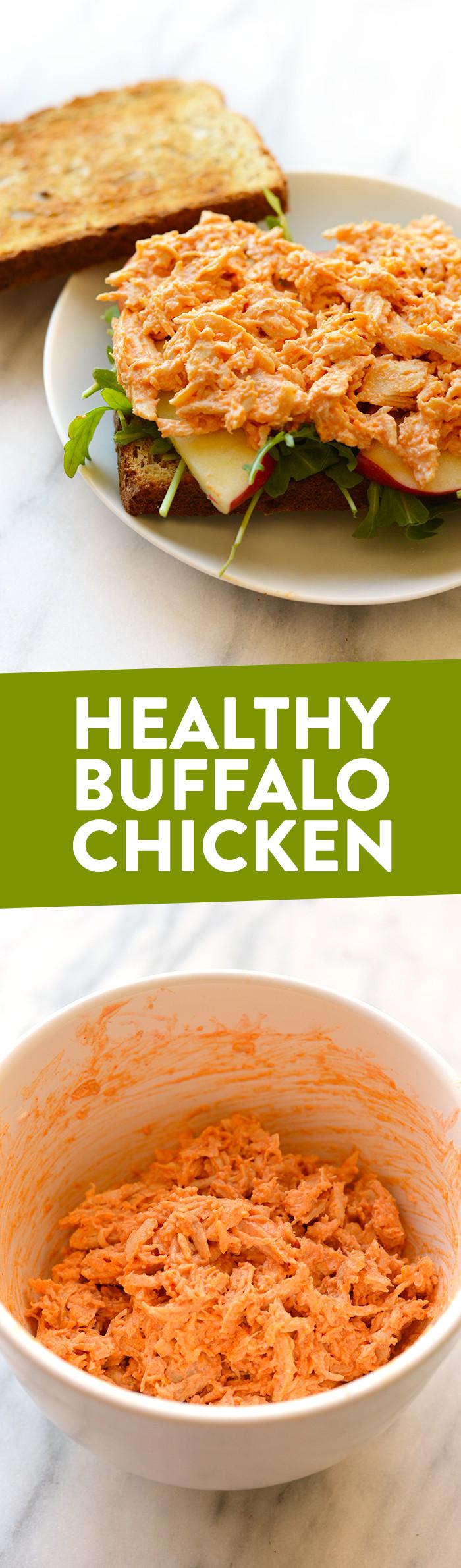 Buffalo Chicken Recipes Healthy  Healthy Buffalo Chicken Recipe Video Fit Foo Finds